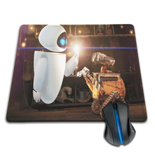 Babaite Customized Mouse Pad Wall-E and Eva Love Moment in MovieComputer Notebook Logo Printing Mouse Pad Soft Rubber Mat