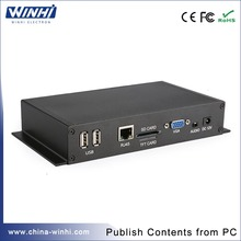 Cheap 1080P network full hd decode network usb media player  with vga out usb memory card slot