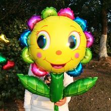 90*68CM 10pcs/lot Giant Sun flower balloons helium foil ballon smiling baloes for wedding /birthday party supplies air globos