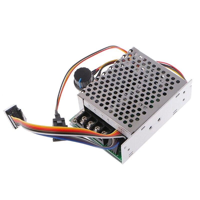 10-55V 12V 24V 40A PWM DC Motor Speed Controller CW CCW Reversible Switch W// Fan