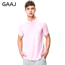 Brand New Men's Polo Shirt For Men Desiger 16 Colors Pink Blue Navy Polos Men Cotton Short Sleeve shirt clothes Plus Size XXXL(China)
