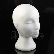 Styrofoam Foam Female Mannequins Display Head Stand Model Dummy Wig Hat Glasses H06
