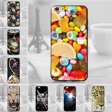 Silicone cell Phone Back Cover Case For iPhone 6s Plus / 7 Plus TPU Soft Cover For iPhone 5 5s SE 6 Plus Cases For iPhone 8 Plus(China)