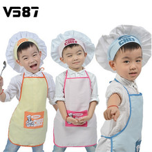 Junior Chef Cook Apron Kit Set Polyester Kids Apron and Chef Hat Child Cooking Baby Apron Painting Apron Family Outings