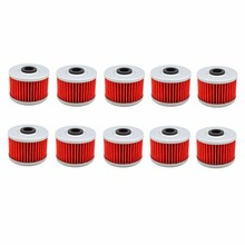 10 pcs Motorcycle High Performance Powersports Cartridge Oil Filter for KAWASAKI KX450F KXF450 449  2012-2015