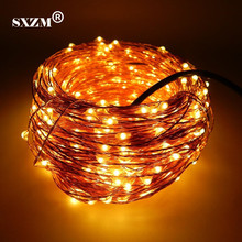 SXZM 10M 20M 30M 50M Waterproof Copper led string DC12V with DC connector Fairy light holiday decoration outdoor street Garden