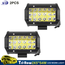 2pcs 5 inch 54W spot beam square mini LED Work Light Lamp for Motorcycle Tractor Boat offroad 4x4 ATV UTV auto 4WD 12V
