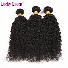 "Mongolian Kinky Curly Human Hair Weave Bundles Lucky Queen Hair Products  ""10-28"" Non-Remy Hair Extensions 1 Piece Free Shipping"