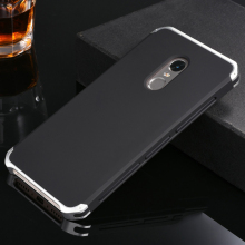 Metal Aluminum Border & Silicone Hard Back Cover Case For Xiaomi Redmi Note 4 4X Note4 Note4X 5.5'' Phone Cover