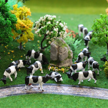 30pcs HO Scale painted Farm Animals Cows 5 different poses Model Railway 1:87 scale model animals P8714 model building kit(China)