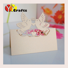 new arrival love bird design wedding seat card customize available table place card made in china for sale(China)