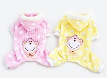 Cute Monkey Dog Puppy Pajamas Soft Warm Coat For Small Dog Jumpsuit Pet Clothes Apparel S M L XL XXL