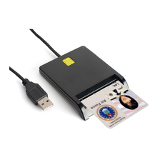 Zoweetek 12026-1 Brand New Easy Comm USB Smart Card Reader IC/ID card Reader High Quality Dropshipping(China)