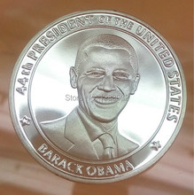 High quality, 44th president of the United states Barack Obama America gold plated souvenir coin,100pcs/lot, Free shipping