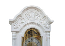 DHLshipping  White grandfather clock simple and stylish living room European-style wood carving mechanical bell stand