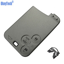 OkeyTech 3 Button Blank Remote Control Car Key Card Case Shell Cover For Renault Laguna Megane Modus Clio 2 Kangoo Logan Sandero(China)
