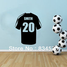 Personalised name Football Soccer Shirt Wall Art Sticker Decal Home DIY Decoration Wall Mural Removable Room Decor Wall Stickers