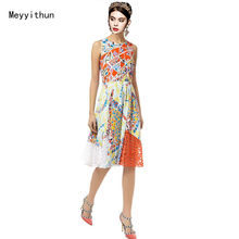 Free Shipping Stunning Printed Hollow Out Stretch Silk Jersey Dress (size S to XXL) 0801EP641
