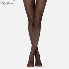 Women's Tights Classic Small Polka Dot Silk Stockings.Thin Lady Vintage Faux Tattoo Stockings Pantyhose Female Hosiery.2 Colors(China)