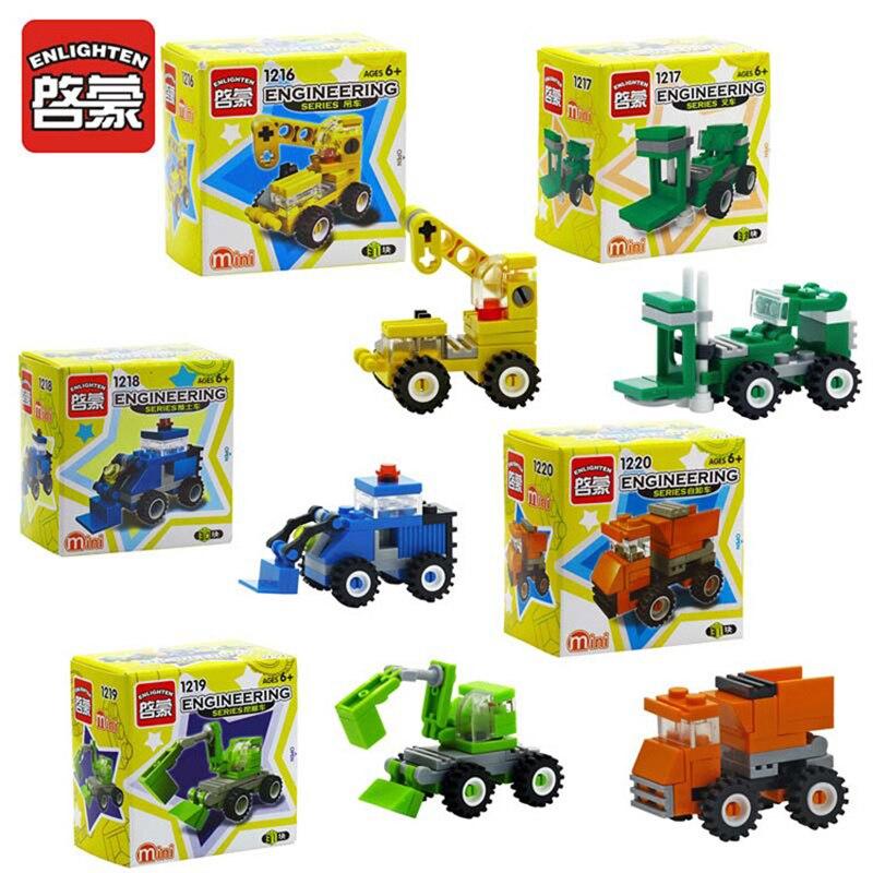 2017 ENLIGHTEN City Series Forklift Truck Building Blocks Best Kids Xmas Gifts City Construction Blocks Toy For Children Gift<br><br>Aliexpress