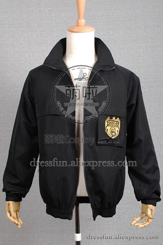 NCIS Schwarz Personal Jacke Uniform Cosplay Kostüm Standardgröße Halloween Party