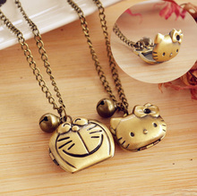Kawaii Cartoon Hello kitty Pendant Necklace(can put photo).Picture/Photo Locket.Necklace Frame Pendants.For kid girl gift