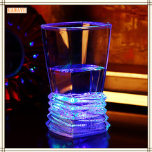 1Pcs Colorful Flashing LED Light Cup KTV Magic Glass Flash Wine Beer Bar Mug Drink Cup For Party Wedding Bar Wine Glass 6DZ415(China)