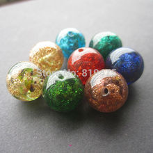 12mm Lampwork Glass Beads 10Pieces Glass Boutique beads Dust Sand Multi-color for  earring necklace making