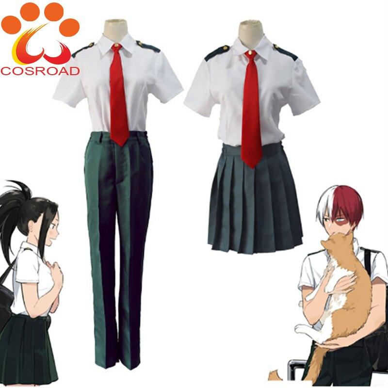 Cosroad Boku no Hero Academia Cosplay Costume Summer School Uniform Midoriya Izuku Todoroki Shoto Man Women Short Suit