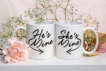 Valentines He's Mine Cup, She's Mine mugs beer travel milk cup coffee mug tea cups home decor novelty friend gift birthday gifts