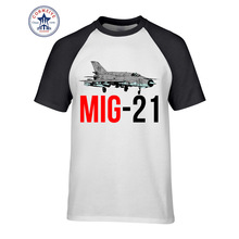 2017 Fashion Summer Style MIG 21 Jet Air Plane Funny T Shirt for men