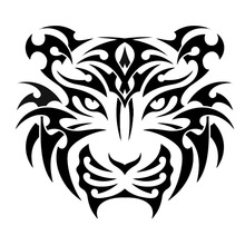 13.5*12CM Mighty Tiger Graphical Window Decal Car Styling Vinyl Hunting Lover Car Stickers Black/Silver S1-2566(China)