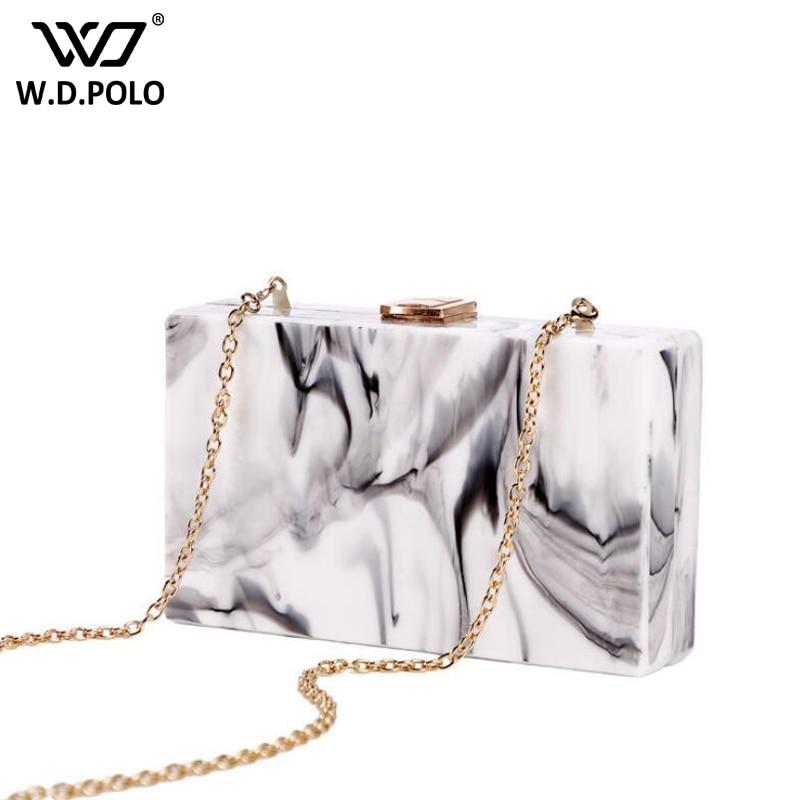 WDPOLO new acrylic lady shoulder bag super chic handbag national design women crossbody bolsa chain women bags C043<br>