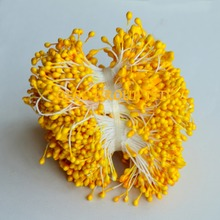 YELLOW 5.5cm Double sided flower stamens for fascinator sinamay hat kentucky derby hat weding accessory.