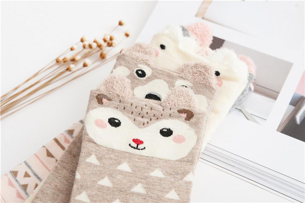 17 New Lovely Cartoon Women Socks High Quality Cotton Sox Japanese Fashion Style Socks Autumn Winter Warm Socks For lady Girls 9