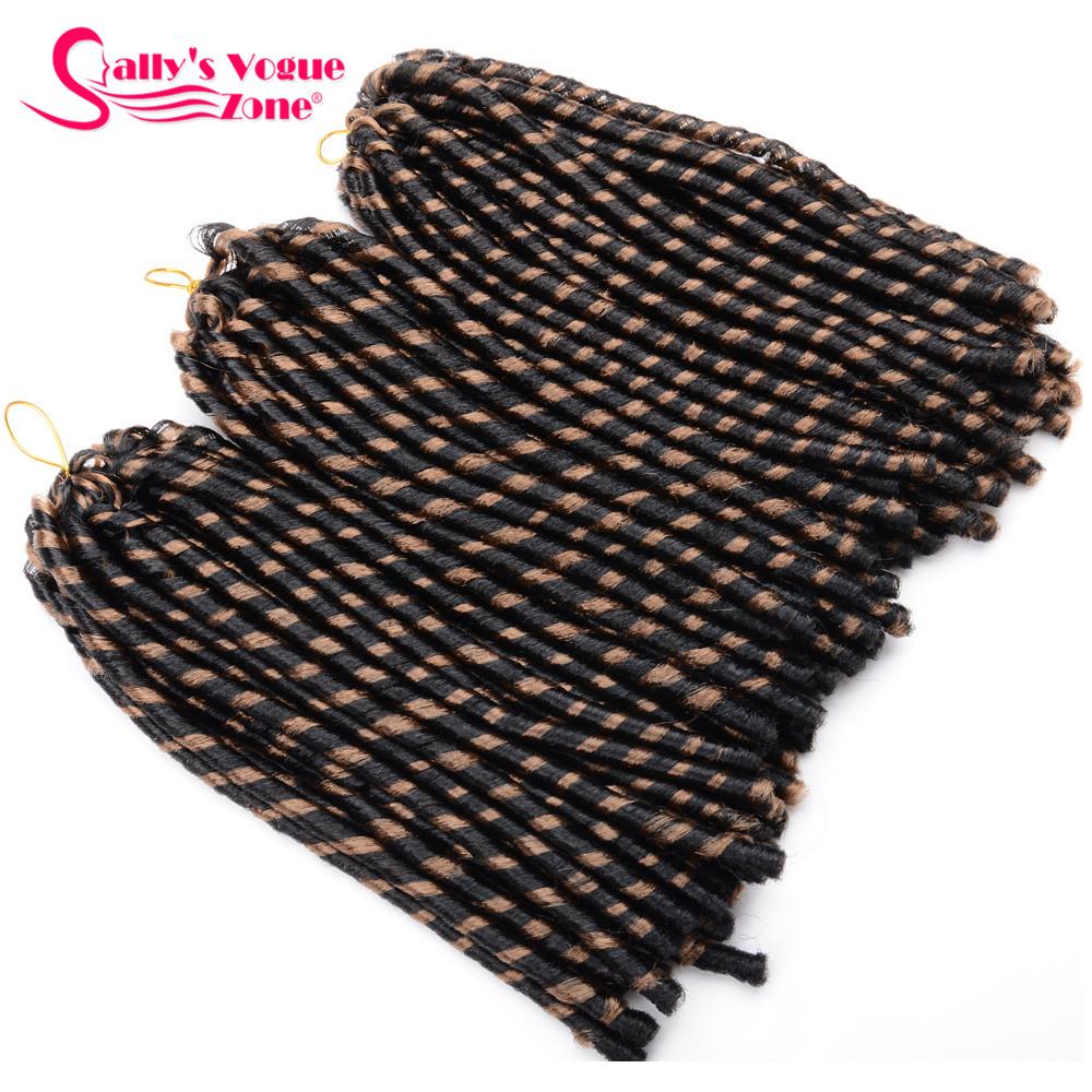 24 Roots Faux LocsCrochet Hair 18 Crochet Faux Lock Dreadlock Crochet Braids hair Extensions Synthetic Braiding hair Soft lock (130)_