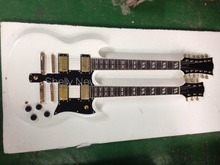 Shelly new store factory custom white SG double neck guitars gold hardware 12&6 strings electric guitar musical instruments shop