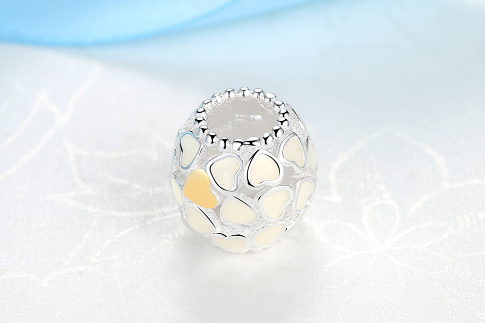 Two Tone Gold Plated 925 Sterling Silver Charm Beads*