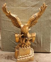 "free 19"" Chinese Bronze Fly Arabia Hawk Eagle Bird On Hand The Grest Wall Sculpture fast"