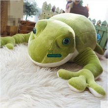 Dorimytrader New Lovely Soft 70cm Big Animal Frog Plush Toy 28'' Anime Cartoon Stuffed Green Frogs Doll Pillow Baby Gift DY60266