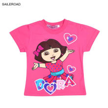 SAILEROAD New Dora Children Boys Girl's T Shirt Summer Children Kids Baby Girl's T Shirt Kids Boys Girl's Wear Clothing T Shirt