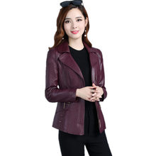 Plus Size 5XL New Design Spring PU Leather Jacket Women Zipper Motorcycle Faux Leather Coat Chaqueta Mujer Bomber Jacket C4066(China)