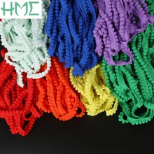 5yards/lot 10mm Width Pom Pom Trim Ball(5mm) Fringe Ribbon Lace for DIY Sewing Dress Sofa Kintted Fabric Handmade Accessory(China)