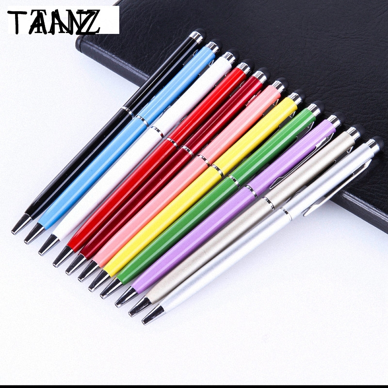 10pcs/lot 2in1 touch screen stylus notebook iPad iPhone Tablet PC mobile phone tablet Touch Pen Ball Point Pen Universal