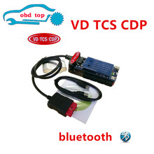 Lowest Price 2pcs with Bluetooth black vd Tcs cdp pro plus for CARs and TRUCKs obd2 scan tools cables -DHL FREE ship