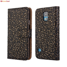 Funda for Samsung Galaxy S5 Neo Case Royal Court Flower Wallet Phone Bag Flip Leather Cover for Samsung S5 G900 Case Cover Coque(China)