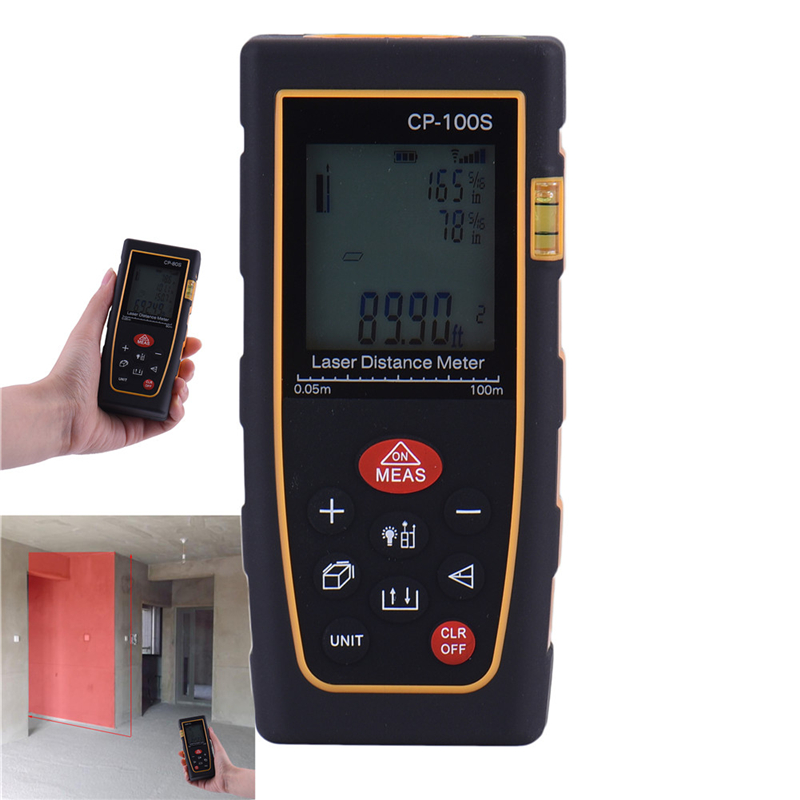 Handheld Digital Laser Distance Meter Range Finder Measure Diastimeter CP-100S Promotion<br>