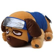 Candice guo! Hot sale super cute plush toy doll anime Naruto Kakashi parker dog birthday gift 1pc(China)