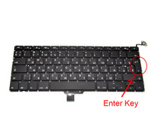 "New A1278 RU Layout Keyboard For Macbook Pro 13-inch Russian Layout Fits Year 2009 2010 2011 2012 ""L"" Enter Key"