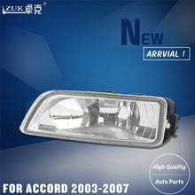 ZUK Brand New Left Right Fog Light Fog Lamp Front Bumber Light Lamp FOR HONDA ACCORD CM4 CM5 CM6 2003 2004 2005 2006 2007(China)